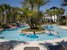 A lazy river feature is one of many amenities in this resort-style pool. Newly built homes in the Nocatee community from ICI Homes. Ponte Vedra, Florida