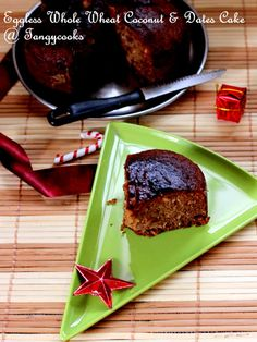 CONCOCTIONS OF A COOKAHOLIC !!!: Eggless Whole Wheat Dates & Coconut Cake
