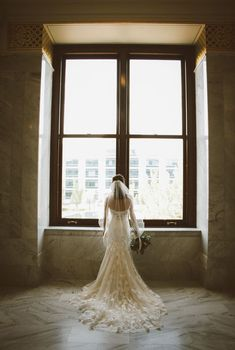 Real bride Jaden - beaded lace - fit to flare - Ella Rosa wedding gown Bridal Gowns, Wedding Gowns, Wedding Dress Shopping, Beaded Lace, Designer Wedding Dresses, Utah, Flare, Bridesmaid, Fit