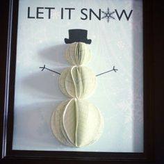 Cute DIY 3-D Snowman from SavedByLoveCreations
