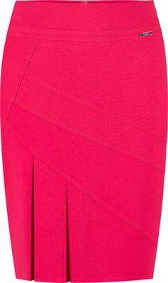 Spódnica z boczną kontrafałdą Antonina II Blouse And Skirt, Dress Skirt, African Fashion Skirts, Frock Fashion, Clothing Sites, Cute Skirts, Work Attire, Skirt Outfits, Stylish Outfits