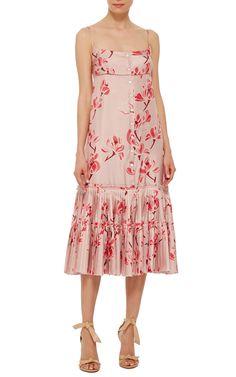 151b0f6f57 Brock Collection Dahlia Oleander Silk Twill Dress Dahlia