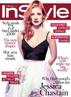 Jessica Chastain InStyle UK February'13
