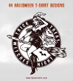 Monochrome Halloween vector design illustrations with editable text. From 44 Halloween t-shirt designs collection by DGIM Studio.