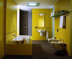 Decoracion De Baños En Color Amarillo (1. Yellow BathroomsMinimalist ...