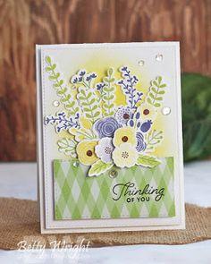 Beautiful Blooms: MFT, Betty Wright, flower sketch