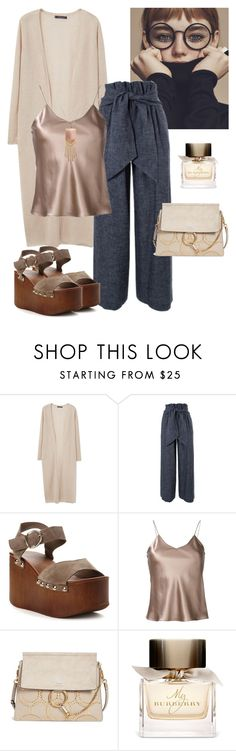 """Cozy)"" by stylekaris ❤ liked on Polyvore featuring Violeta by Mango, MSGM, Etro, Chloé and Burberry"