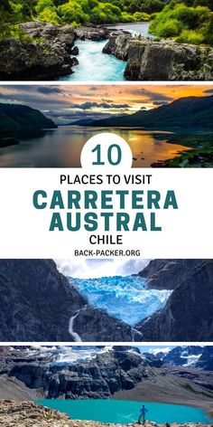 This article sums up my personal top 10 places to visit along the Carretera Austral in Chile featuring the highlights from north to south. South America Destinations, South America Travel, Travel Destinations, Chile Patagonia, Patagonia Travel, Travel Guides, Travel Tips, Adventure Travel, Adventure Awaits