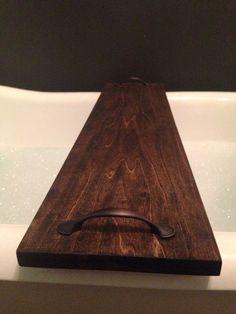 Rustic Bathtub Caddy Bath Tray Poplar Wood With Handles Clawfoot Tub Tray - Dekorance [dot] com Bath Tray Caddy, Bathtub Caddy, Bathtub Tray, Unique Furniture, Diy Furniture, Consoles, Wood Bathtub, Clawfoot Tubs, Bath Tubs