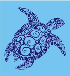Custom Sea Turtle - Honu - **STENCIL** - Available in 5 Sizes - Create beautiful Turtle Signs , Turtle pillows and Turtle Wall Art! Mandala, Sea Turtle Images, Beach Paint Colors, Hawaiianisches Tattoo, Maori Tattoos, Turtle Love, Purple Turtle, Tribal Turtle, Hawaiian Tattoo