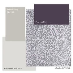 Farrow and Ball color scheme using the new animal print wall paper.