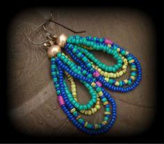 """""""Zigeuner"""" Glas-Perlen-Ohrringe"""