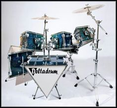 Deltadrums - triangular drum kit. One of the strangest kits I have ever seen.