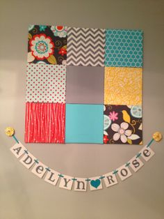 fabric covered corkboards