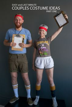 couples costume ideas: camp counselors! Goodwill is your Halloween headquarters! Find everything you need and more by visiting http://www.goodwillvalleys.com/shop/