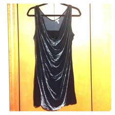 Dress Velvet and spandex dress. Velvet is greenish/blueish. Form fitting, yet comfortable and moveable. Wear with tights, leggings or plain. Only worn once! Flounce Dresses Mini
