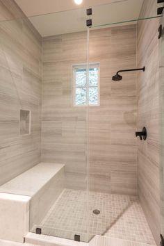 54 Trendy Master Shower Remodel Walk In Master Bathroom Shower, Bathroom Renos, Bathroom Renovations, Modern Bathroom, Diy Shower, Shower Ideas, Bathroom Showers, Bathroom Ideas, Tile Walk In Shower