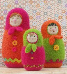 Felted Woolly Matroyshka Dolls