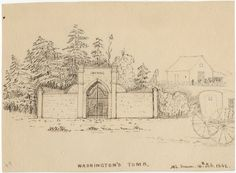 A Wilkes Expedition Artist Pens Two Drawings of Mount Vernon  $5,000