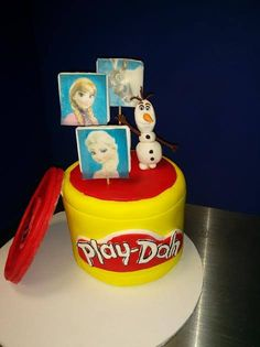 Frozen and Play-Doh cake for a girl's birthday
