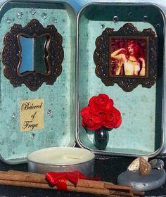 Mini Travel Altar Freya pagan miniature altars * Yule Gift * Solstice Gift * on Etsy, $20.00