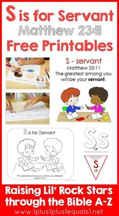 Raising Lil Rock Stars Through the Bible A to Z ~ Letter S Printables {free!}
