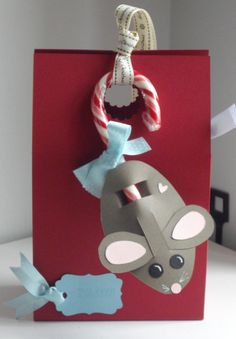 DIY Candy Cane Mice + Ornament - Cupcakepedia