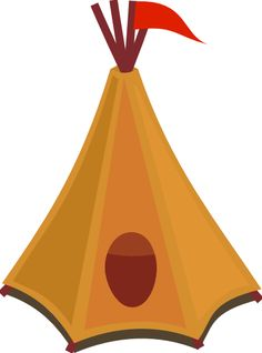Cartoon Tipi Tent With Red Flag clip art - vector clip art online, royalty free & public domain Free Images, Tent Logo, Western Theme, Red Flag, Cowboy And Cowgirl, Art Pages, Tent Camping, Public Domain