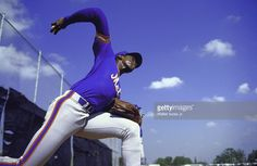 New York Mets Dwight Gooden (16) in action, pitching during spring training practice at Payson Field Complex, Cover, St, Petersburg, FL 3/4/1985