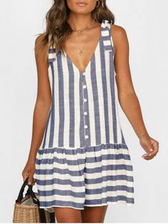 Striped Plunge A Line Tank Dress Striped Plunge A Line Tank Dress Striped Plunge A Line Tank Dress are beautiful, lovable and affordable. You deserve it! Striped Plunge A Line Tank Dress Maternity Mini Dresses, Stitching Dresses, Daily Dress, Mini Vestidos, Tank Dress, Ruffle Dress, Casual Dresses For Women, Types Of Sleeves, Ideias Fashion