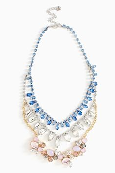 A fresh, sparkling way to wear your red, white and blues: Moongaze Crystal Necklace via @NASTY GAL