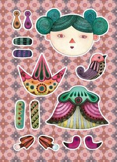Paper Puppets by Pucky L., via Behance                                                                                                                                                     More