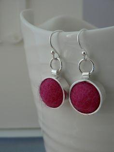 Funky Felt Earrings - Pink