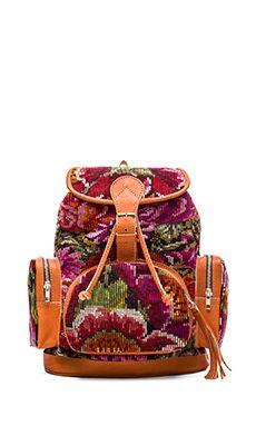 STELA 9 Anita Backpack in Floral Huipil