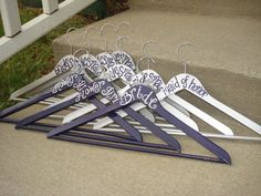 """hangers for """"bride"""" """"bridesmaids"""" and """"flower girls""""   available at:  passionatelypink.etsy.com"""