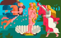 The Birth of Venus (Sandro Botticelli) on Behance