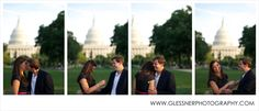 Courtney and Andy's U.S. Capitol engagement session in Washington D.C. | Image ©Glessner Photography