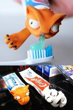 I totally want this toothpaste dispenser! best thing since sliced bread.