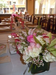 table set up baby shower