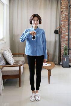 Blue Short Collar Shirt