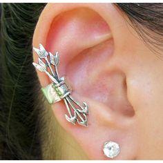 Punk Style Arrow Carrier Metal Ear Clip - Ear Cuff - Earrings - Watches & Jewelry Free Shipping