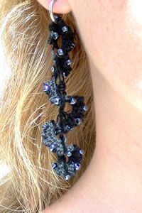 Crochet Pattern Central - Free Pattern - Out On The Town Earrings