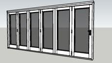 3D Model of Valdi - Folding Sliding Door - 6 Door [White]