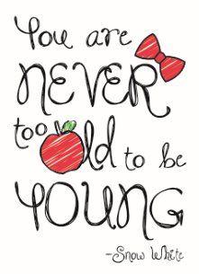 verjaardagskaart vrouw - disney-adult-you-are-never-too-old-to-be-young