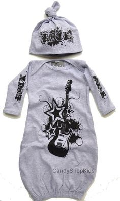 Grey or White Rocker Baby Boy Take Home Outfits - Take Home Outfits for Baby Boys