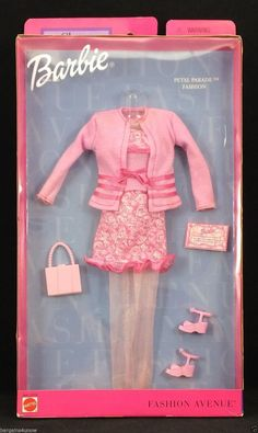BARBIE FASHION AVENUE CHARM PETAL PARADE OUTFIT NRFB!