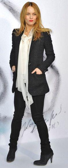 Petite celebrity style bomb :: Vanessa Paradis in Chanel