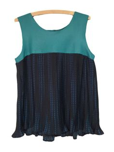 J. Patterson Kincaid Dutch Leather Pleated Tank @Michelle Coleman-HERS