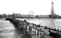 From North Pier in Blackpool Lancashire England in 1896