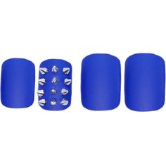 Static Nails Set of 24 Electric Nights Reusable Square Nails One Size ($12) ❤ liked on Polyvore